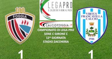 Calcio Foggia 1920 – Virtus Francavilla: la cronaca