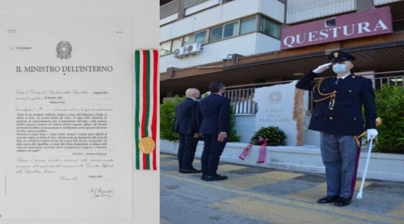 Foggia festeggia i 169 anni della polizia. Una lunga storia premiata con la Medaglia d'oro al valore civile