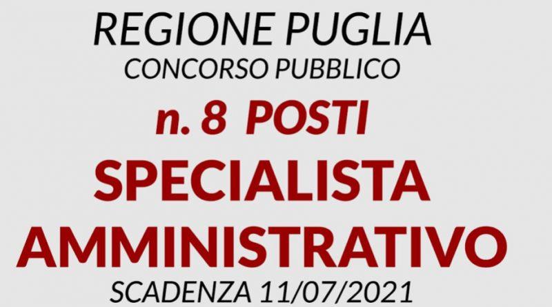 Nuove opportunità di lavoro in Puglia con il concorso per specialisti amministrativi indetto dalla Regione.
